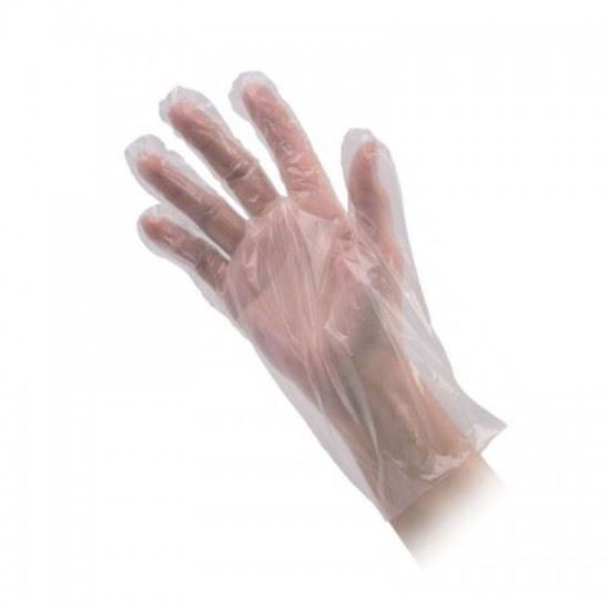 Изображение Перчатки  одноразовые, полиэтиленовые в пакете.