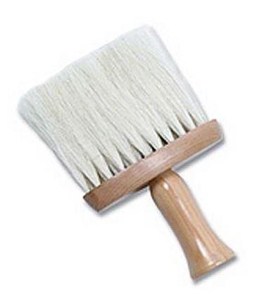 Изображение Кисть-сметка, деревянная, натуральная щетина, узкая
