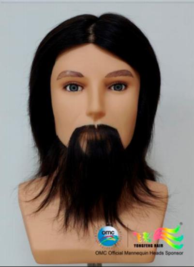 """Изображение Голова """"OMC"""" (100% natural, """"MAN BLACK"""", мужская, 18см.)"""