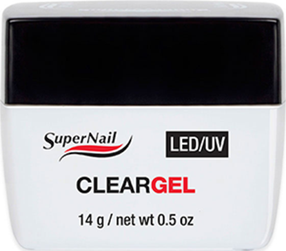 """Изображение Гель прозрачный """"Super Nail"""", LED/ UV, Clear, 14g."""