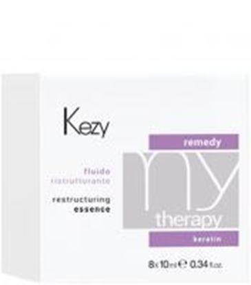 Изображение Kezy MyTherapy Remedy Keratin Restructuring Essence - Флюид реструктурирующий с кератином, 8*10 мл