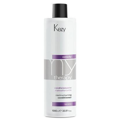 Изображение Kezy MyTherapy Remedy Keratin Restructuring Conditioner - Кондиционер реструктурирующий с кератином, 1000 мл